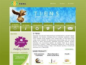 Tiens - strona www i sklep